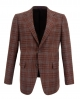 Suit Avenue Slim Fit Brown Plaid Blazer