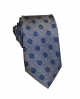 Silk Grey Flower Tie